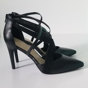 Strappy Pointy Black Heels - Any occasion